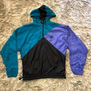 Vintage Nike 3/4 Zipper Colorblock Windbreaker